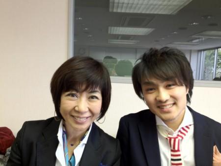 2012年4月のトークライブ、吉武だいちゃんと私。お互い、別の意味で若いw