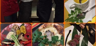 クリスマスディナー@torico♪美味しかったー!来年も楽しみだね。4名の力作メモリー。